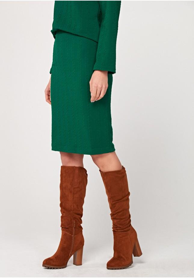 Zielona ołówkowa spódnica