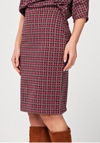 Ołówkowa różowa spódnica