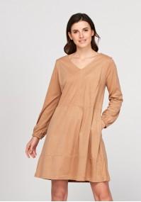 Zamszowa sukienka