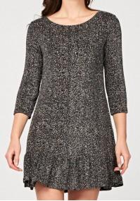 Dress with brocade