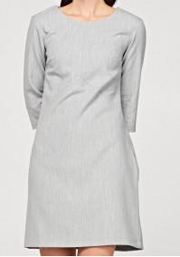 Prosta szara sukienka