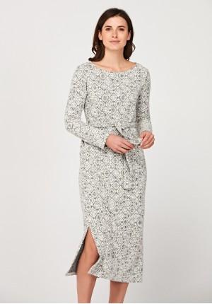 Wiązana maxi sukienka
