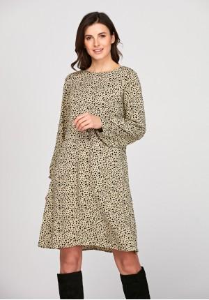 Luźna sukienka w plamki
