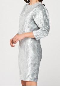 Grey velor dress