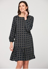 Dress with geometrical pattern