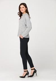 Ciemnogranatowe wiskozowe spodnie