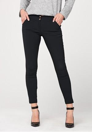 Czarne wiskozowe spodnie