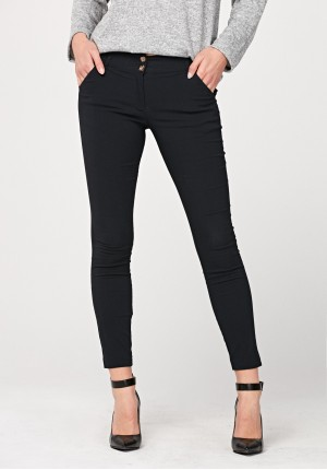 Viscose navy blue pants