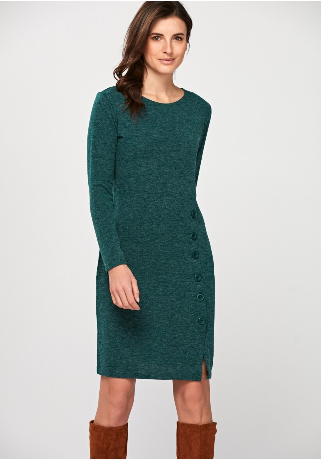 Dress with buttons