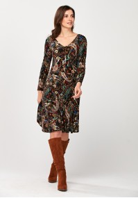 Flared dress with flowers