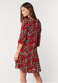 Sukienka w czerwone kwiaty