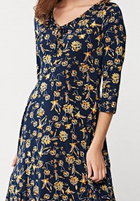 Tapered navy blue dress