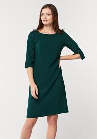 Simple dark green dress