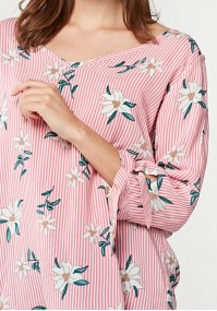 Blouse with stripes