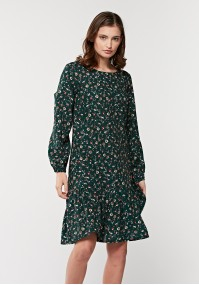 Green dress with frill