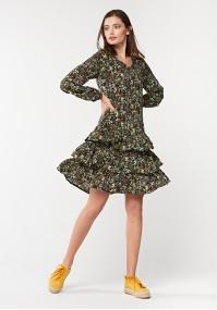 Granatowa sukienka łączka.