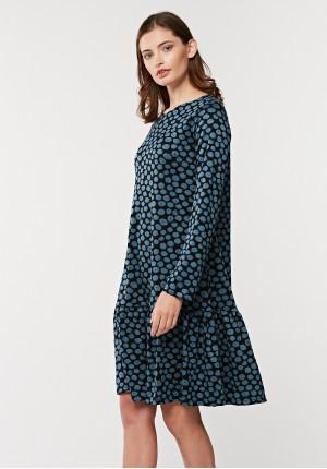 Wiosenna sukienka z falbaną