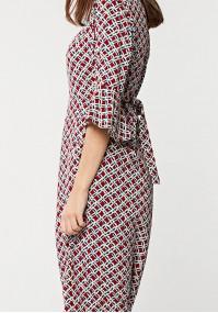 Wiązana sukienka midi