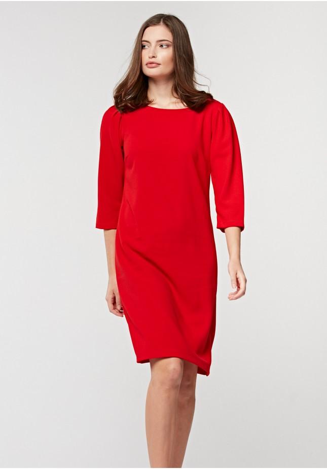 Prosta czerwona sukienka