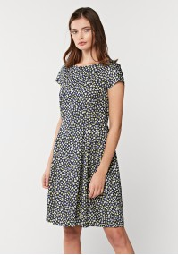 Tapered Waist Dress with Flowers