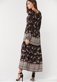 Trapezoidal midi dress