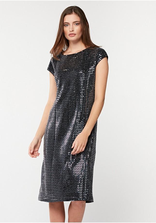Prosta srebrna sukienka