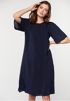 Navy blue dress