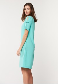 Prosta błękitna sukienka