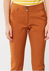 Musztardowe spodnie