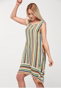 Trapezoidal dress with stripes