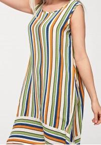 Trapezowa sukienka w paski