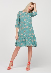 Light blue dress with frill