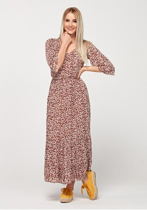 Maxi brown dress