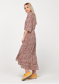 Maxi brown dress