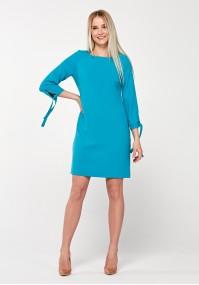 Turkusowa elegancka sukienka