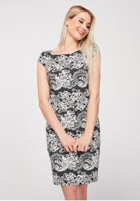 Sukienka z imitacją koronki