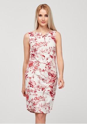 Dopasowana lniana sukienka