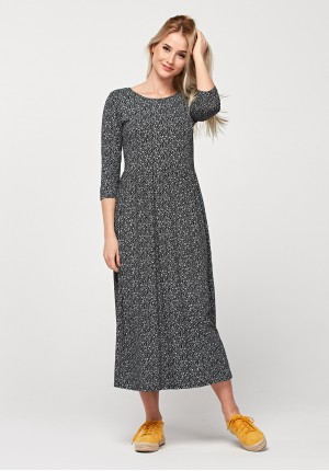 Maxi tapered waist dress