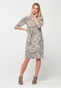 Prosta wiskozowa sukienka