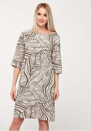 Simple viscose dress