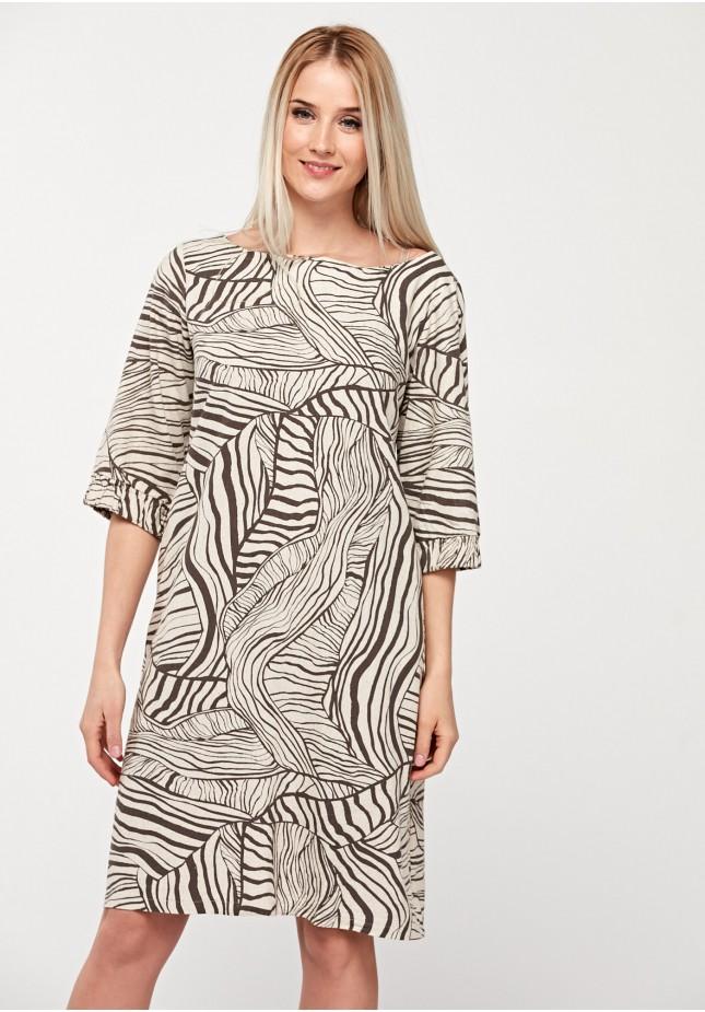 Simple viscose dress