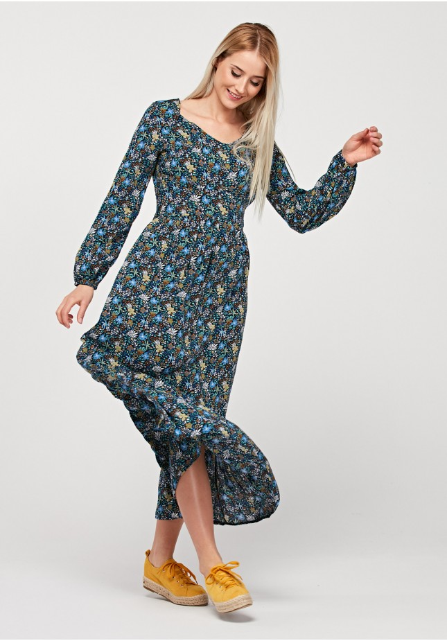 Maxi dress with flowers