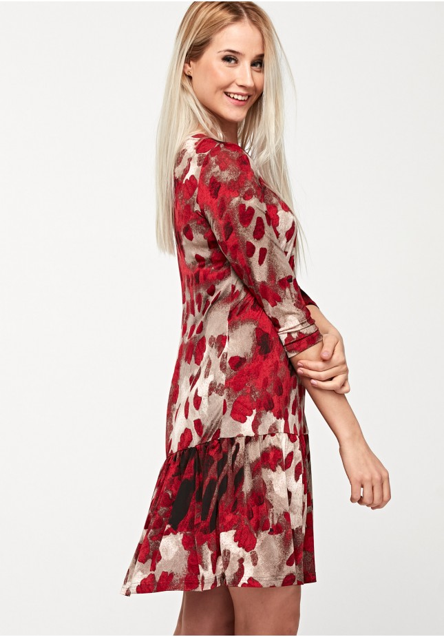 Dress with red spots