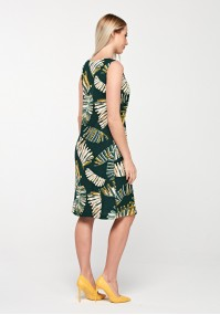 Summer dress with leaves
