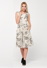 Viscose dress with pockets