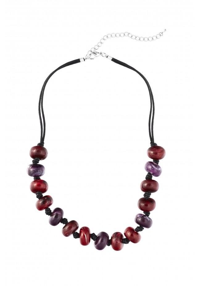 Burgundy and violet Necklace