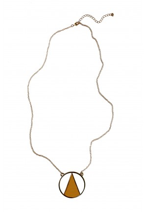 Cream triangle necklace