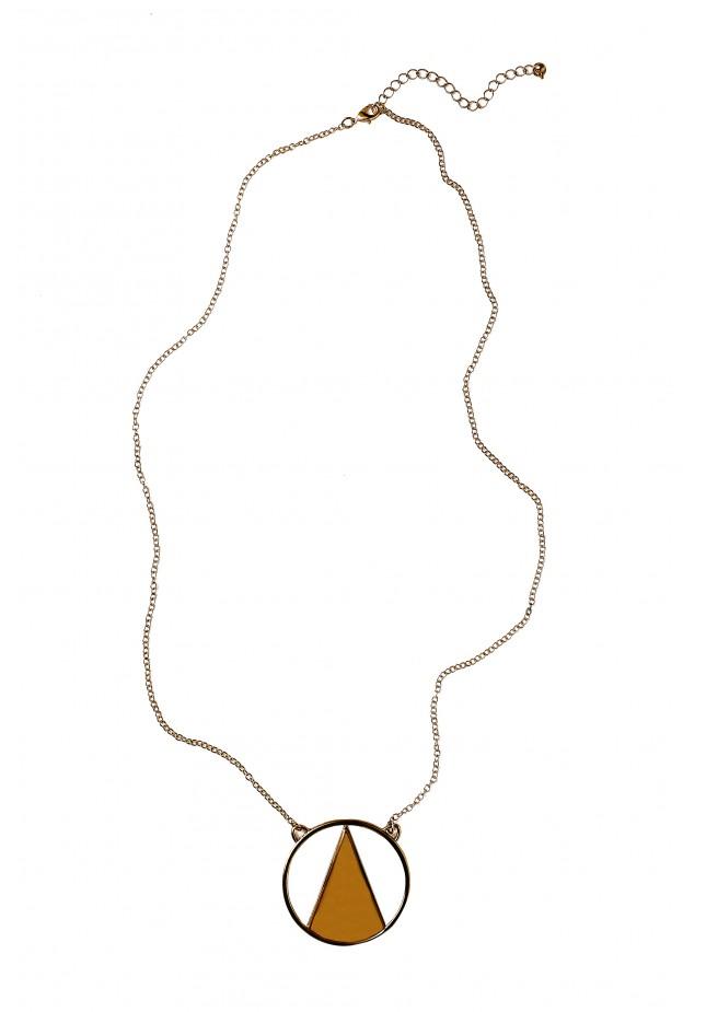 Cream triangle necklace