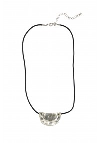 Semicircular metal necklace