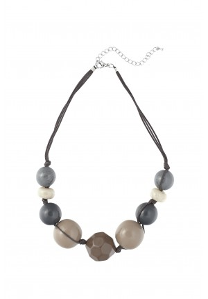 Beige and grey necklace
